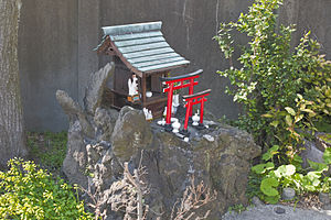 Shinto shrine - A roadside hokora dedicated to kami Inari