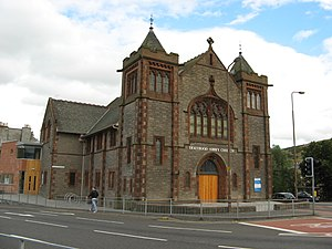 Holyrood Abbey Church - The former Holyrood Abbey Church building at 83 London Road
