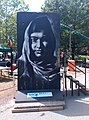 Homage to Malala Yousafzai on Berlin Wall segment by Victor Landeta.jpg