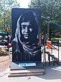 Homage to Malala Yousafzai on Berlin Wall segment by Victor Landeta.jpg