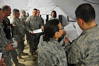 269th Combat Communications Squadron - Squadron members participate in a Homeland Emergency Response Force exercise