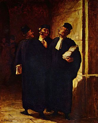 Advocate - 19th-century painting of advocates, by French artist Honoré Daumier
