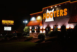 Hooters - Hooters Restaurant, Route One, Saugus, Massachusetts – Night View