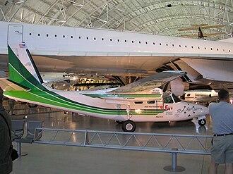 Aero Commander 500 family - Bob Hoover's Shrike Commander on display