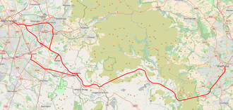 Hope Valley line - Image: Hope Valley Line map