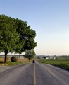 """Horse and buggy on the road in """"Amish Country,"""" Lancaster County, Pennsylvania LCCN2011635685.tif"""