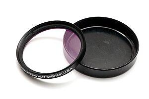 Hot mirror - A Tiffen photographic hot mirror filter