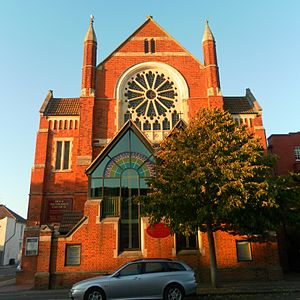 Hove Methodist Church - The front of the church viewed from the south