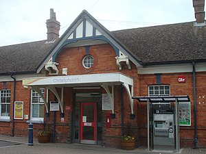 Christchurch (Dorset) railway station - The Main Entrance to the Station