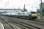 An InterCity 225 train on the East Coast Main Line at Doncaster