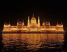 Hungarian Parliament By River Danube.jpg