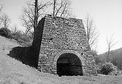 Huntingdon Furnace, a historic landmark in the township