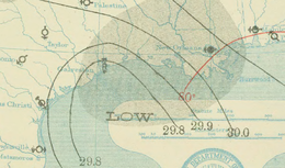 Hurricane Four 21 Jul 1909 Weather Map.png