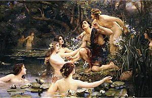 Henrietta Rae - Hylas and the Water Nymphs; a representative example of her work.