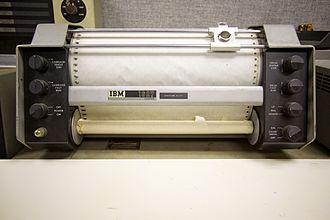 IBM 1627 - IBM 1627 drum plotter. Note pen assembly is missing.