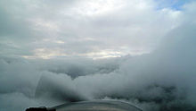 Vue complètement bouchée par des nuages