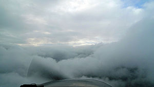 Instrument flight rules -  IFR in between cloud layers in a Cessna 172