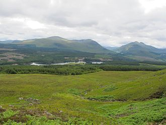 Iain Lom - Looking  down to Laggan Dam and Iain Lom's home at Allt a' Chaorainn