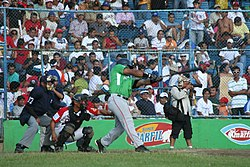 Batter of the Fieras del San Fernando, a Nicaraguan professional baseball team.