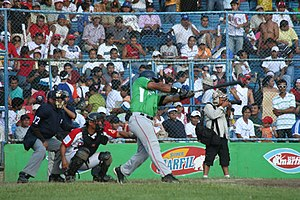 History of baseball in Nicaragua - A batter of the Fieras del San Fernando, a Nicaraguan professional baseball team.