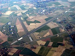 Aerial view of Chièvres Air Base
