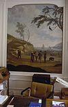 interieur, zaal, geschilderd behangsel, overzicht - amsterdam - 20260024 - rce