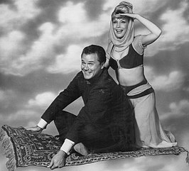Larry Hagman en Barbara Eden in I Dream of Jeannie