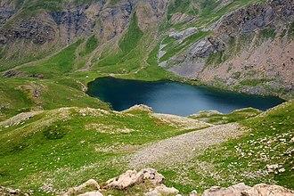 Glacial lake - Image: Ibón de Sabocos (14562086186)
