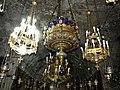 Ierusalim, Muntele Maslinilor, Biserica Mormantul Maicii Domnului (interior 10 - Candela daruita de Carol I al Romaniei)(2).jpg