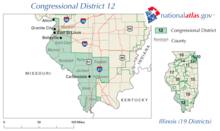 Description de l'image Illinois' 12th congressional district.png.
