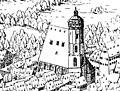 Illustrierte Geschichte d. sächs. Lande Bd. II Abt. 1 - 256 - Leipzig 1615 (cropped Thomaskirche).jpg