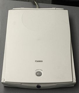 Image scanner Device that optically scans images, printed text
