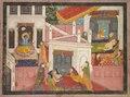 India, Pahari, Kangra, 19th century - Scenes from the Birth of Krishna - 1953.13 - Cleveland Museum of Art.tif