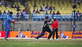 Brendon McCullum - McCullum batting against India in an ODI in December 2010