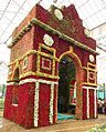 India gate using roses at Lalbagh flower show 2010.jpg