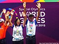 Indian medal winners at the Special Olympic World Summer Games 2015.jpg