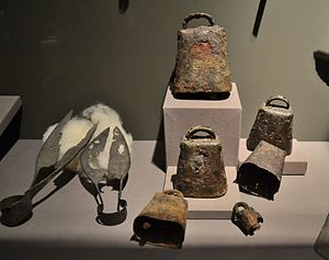 Sheep shearing - Shears and cowbells c.250AD Spain