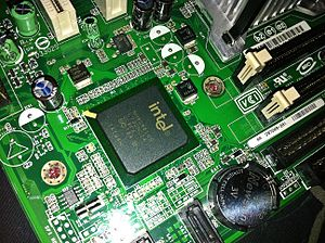 Chipset - Intel ICH7 Southbridge on Intel D945GCPE Desktop Board