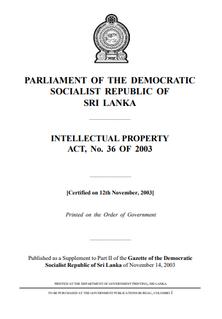 Copyright law of Sri Lanka