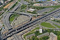 Interchange near Moscow-City