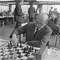Interfide schaaktoernooi in GAK gebouw, Samuel Reshevsky (VS), Bestanddeelnr 916-4584.jpg