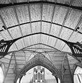 Interieur, overzicht houtgewelf met spantconstructie - 20000749 - RCE.jpg