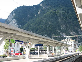 Interlaken West railway station railway station in Switzerland, serving the town of Interlaken