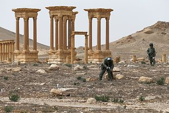 Russian military intervention in the Syrian Civil War - In March 2016 a group of Russian sappers cleared the liberated areas of Palmyra, which was previously mined by Islamic State jihadists.
