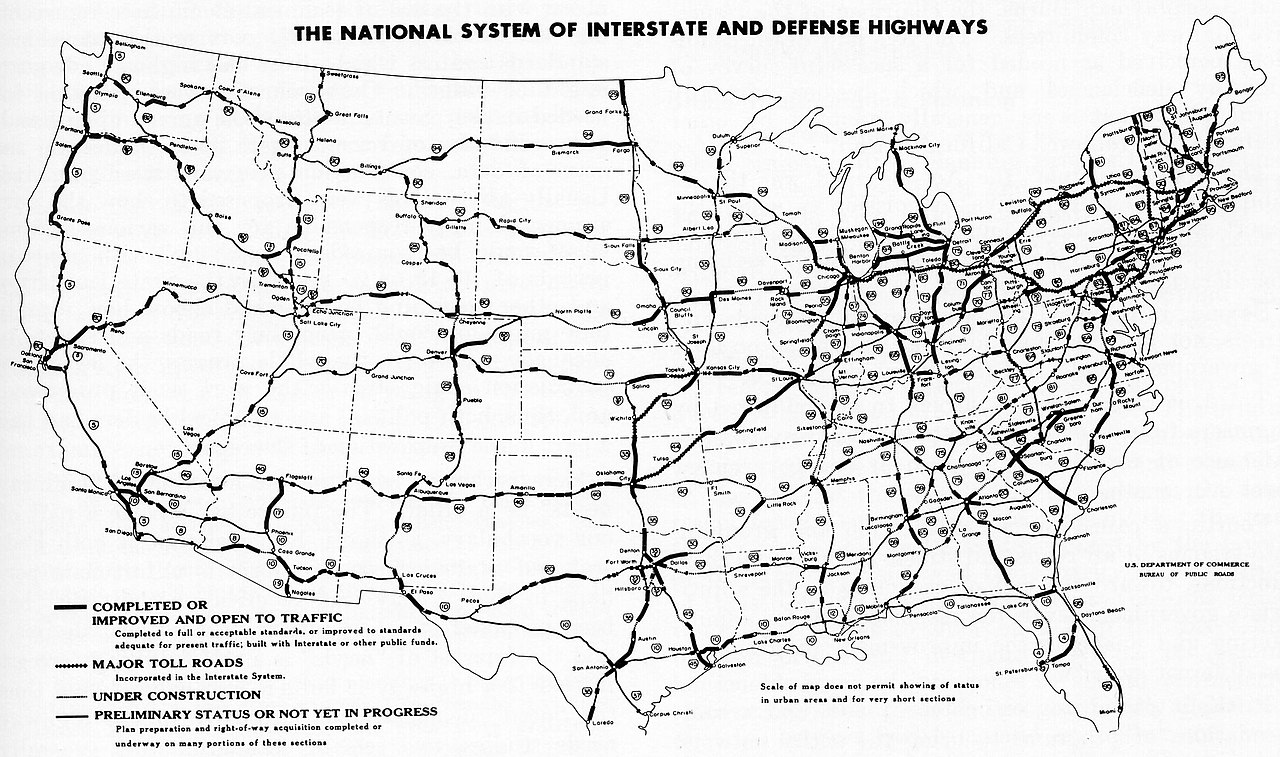 FileInterstate Highway Status Unknown Datejpg Wikimedia Commons - Us map with interstates