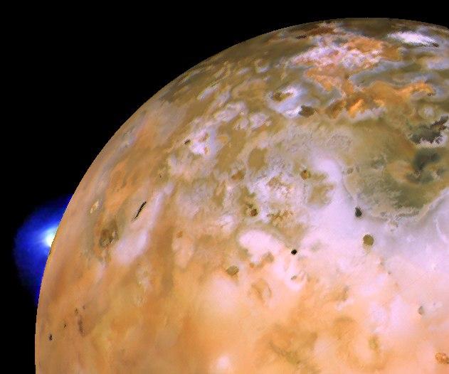 Io with Loki Plume on Bright Limb (cropped)
