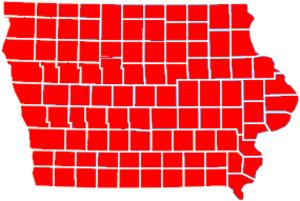 United States Senate election in Iowa, 1992 - Image: Iowa Rep sweep