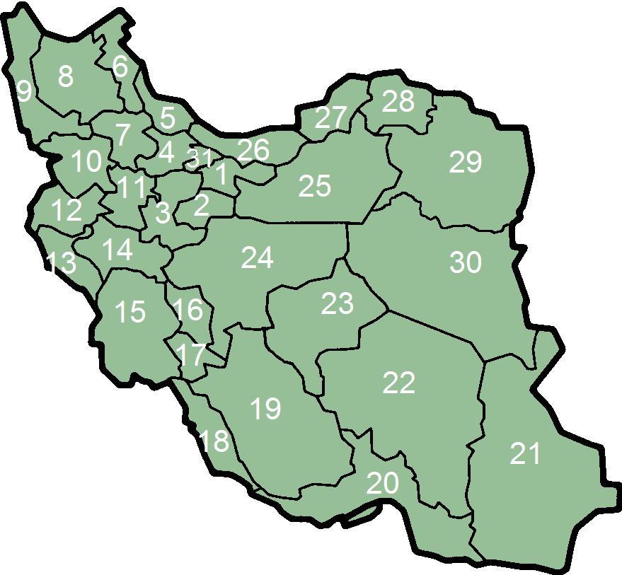 מחוזות איראן