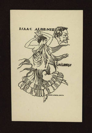 Isaac Albéniz - Ex libris Isaac Albéniz by Ismael Smith, around 1921