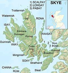 Lage von Isay nordwestlich von Skye